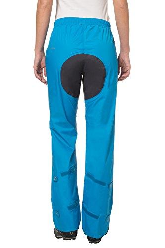 VAUDE Drop II pantalon imperméable femme – pantalon de pluie coupe-vent et thermo-respirant – surpantalon de pluie léger et compact Bleu (Sarcelle)