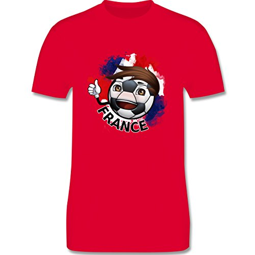 EM 2016 - Frankreich - France Fußballjunge - Herren Premium T-Shirt Rot