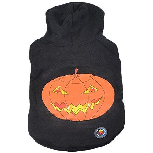 para el animal doméstico de Halloween ropa LED,RETUROM NUEVO ESTILO perrito del animal doméstico Sacudir ropa ligera fantasma de la calabaza ropa LED (S)
