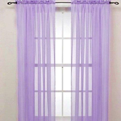 Display08 - tenda con mantovana - in fibra di vetro, semitrasparente - per casa, camera da letto o come decorazione per matrimoni - 100 cm x 200 cm - colore: viola