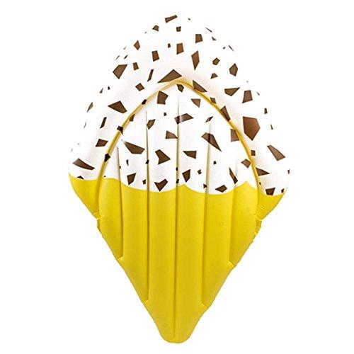Matratze Liegematratze Luftmatratze - Eistüte - Ice Cream - Eis - ca. 180 cm ein toller Badespass / verschiedene Farben - Nur für Schwimmer! Kein Schutz gegen Ertrinken! / große Luftmatratze / bunte Luftmatratze / robuste Luftmatratze / hautfreundliche Luftmatratze (Stracciatella)