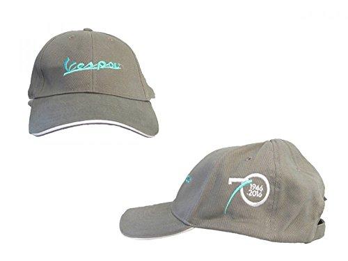 Preisvergleich Produktbild Vespa Base Cap 70 Jahre grau