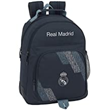 Safta Mochila Doble Adaptable A Carro Real Madrid, Color Azul, 42 cm (611834773