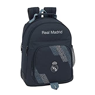 41MNNqmnaUL. SS324  - Safta- Mochila Doble Adaptable A Carro Real Madrid, Color Azul, 42 cm (611834773)