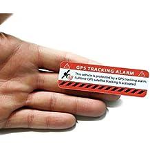 GPS Alarm Aufkleber Auto - Warnaufkleber in Premium Qualität - 75 mm x 25 mm - Sticker für Pkw - Innenklebend (rot klassich, 2)