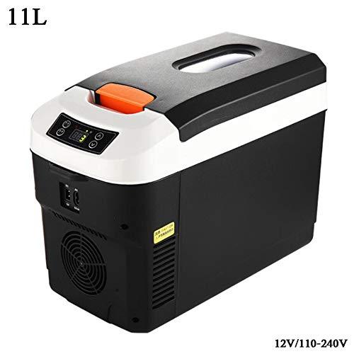YNWJ Kiihlbox Klein Auto Car Refrigerator 12V/220-240V (11L) Tragbaren KüHlschrank Auto-Mini-KüHlschräNke Mit KüHl- Und Warm Haltefunktion,11L Digital Display (Mini-display-kühlschrank)