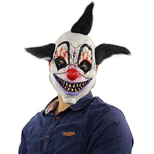 GH-YS Halloween Horror Clown Maske, Haunted House Room Escape Verkleiden Sich Party Cosplay Lustige Requisiten