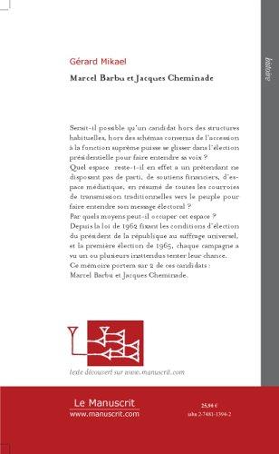 Marcel Barbu et Jacques Cheminade : Deux...