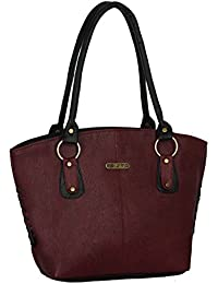 Fristo women's handbag (FRB-060) Maroon and Black