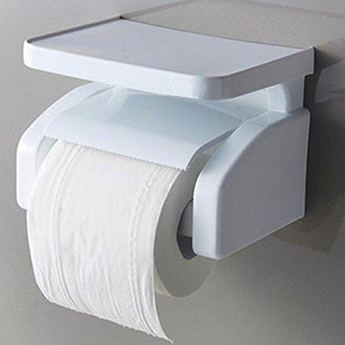 LIZHONGXUAN Multifunktionstoilettenpapierrollen-Toiletten-an der Wand Befestigten Rollen-Halter-Freien Durchschlag (Handtuchhalter Natürlichen Stahl)
