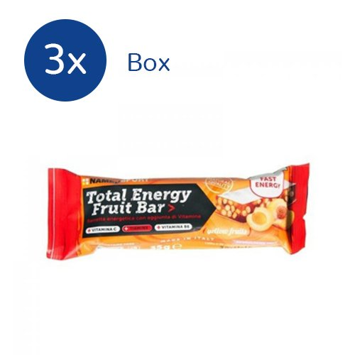 NAMEDSPORT 3x Total Energy Fruit Bar box da 25 barrette da 35 g (GUSTO: Jellow Fruits) - 41MNQWRLnpL