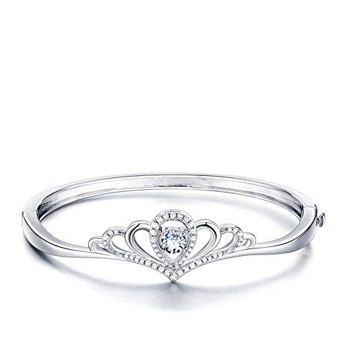 925Plaqué Platine Couronne bracelet en argent/ Accessoires de mode/ accessoires de mode présent anniversaire A