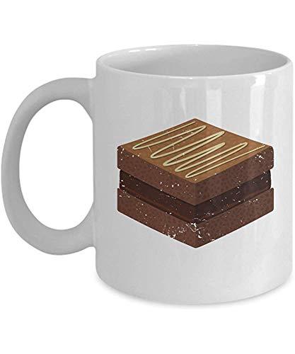 Sweet Treat Cups - Brownie - Regalos para Foodies - Taza de café de cerámica de 11 oz