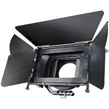 eimo - Paraluce professionale M2 compatibile con fotocamere reflex digitali e videocamere Canon, Nikon, Sony, Panasonic, Olympus e Pentax