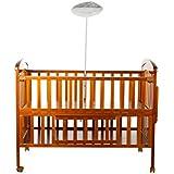 Mee Mee Baby Wooden Cot With Cradle, Swing And Mosquito Net, Teak Brown