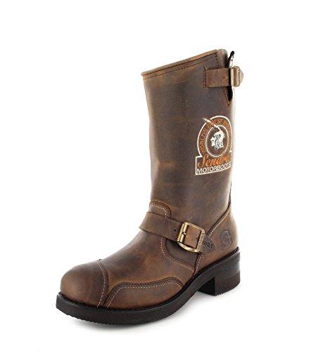 Sendra Boots Stiefel 3565 Steel Braun Bikerstiefel Engineerstiefel -