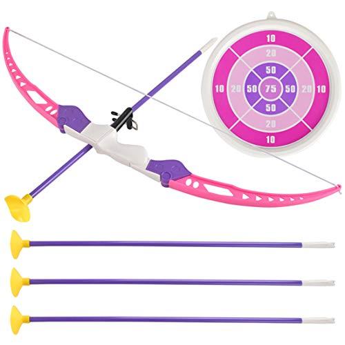 PHYNEDI Pfeil und Bogen Set, Recurve Bogen und Pfeil Set Kinder Bogenschießen Spielzeug Geschenk für Kinder (54 x 11 x 4.5cm, rosa 1)