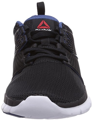 Reebok Zquick Dash, Running Entrainement Adulte Mixte Noir (Black/Batik Blue/Solar Yellow/White)