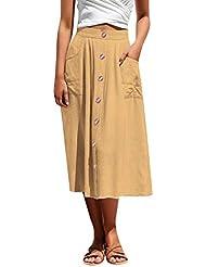 Abbigliamento sportivo DQHXGSKS Gonna da Donna Sottile Casual letteraria Stile Vintage a Vita Alta a Vita Alta