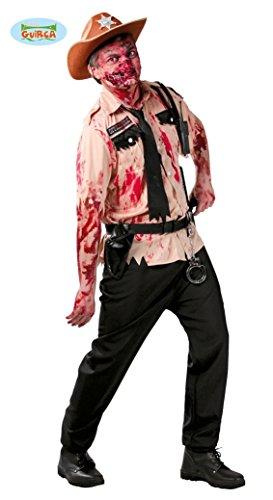 POLIZIST Kostüm Zombie TYPE WALKING DEAD (Kostüm The Dead Walking)