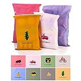 ZOCONE Sacchetti di Immagazzinaggio, 10 PCS Bags-in-Bag Organizzatori di bagagli, Impermeabile, Cosmetici Valigia lavanderia toilette Pouch