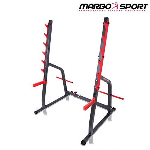Kniebeugenständer MS-S107 von Marbo Sport Hantelablage mit Scheibenständer