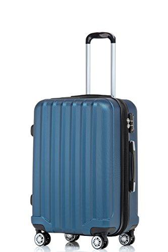TSA-Schloß 2080 Hangepäck Zwillingsrollen neu Reisekoffer Koffer Trolley Hartschale Set-XL-L-M(Boardcase) in 12 Farben