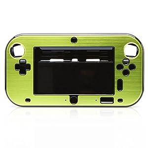 TOOGOO(R)Aluminium Deckel/ Schutzhuelle fuer Nintendo Wii U Gamepad-Fernbedienung (Gruen)