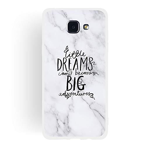 Carols Cover Samsung Galaxy A5 2016 /SM-A510F Marmo, Silicone Morbido Cover Antiurto TPU Soft Touch con Disegni Effetto Marmo Custodia Protettiva - Sognare