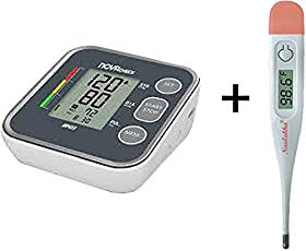 Free Digital Thermometer (MRP 285) with Nulife Nutec 12 Bp Automatic Blood Pressure Monitor