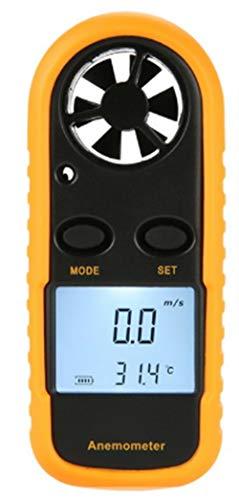 HYTM Anemómetro Digital Termómetro Portátil Mini Alta Exactitud Metro De...