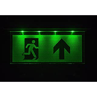 Notleuchte Notbeleuchtung Exit Notausgang Fluchtwegleuchte Notlicht Fluchtweg mit Pfeil nach OBEN