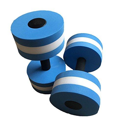 Bobury 1 Paar-Wasser-Aerobic Hantel Aquatic EVA Barbell Aqua Fitness Pool Schwimmen Yoga-Übung Zubehör Elastic (Pool Übung)