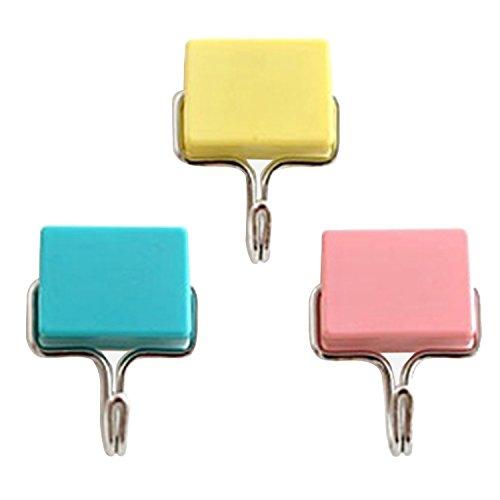 Gosear 3 Stk Super Leistungsstarke Absaugung Magnetische Hooks Halter Veranstalter Schwere Pflicht Kleidung Handtuch Schlüssel Tasche Hooks für Schlafzimmer Bad Küche Kühlschrank Mikrowelle