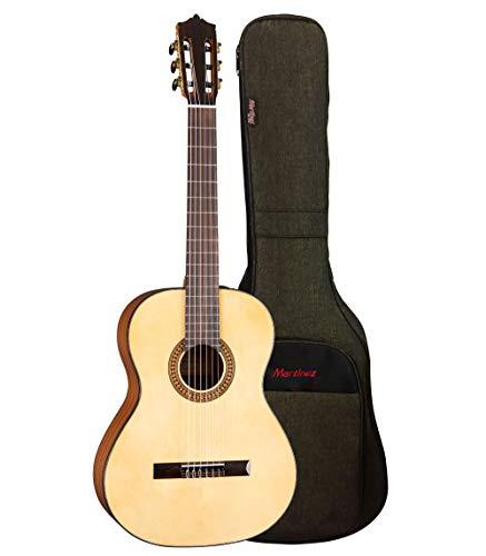 Classical Guitar Martinez MC-20S : 4/4 Konzertgitarre - Klassische Gitarre mit hochwertigem Gigbag