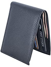Holboro Men's Crocodile Embossed Genuine Leather Wallet With Free Cotton Canvas Shopping Bag