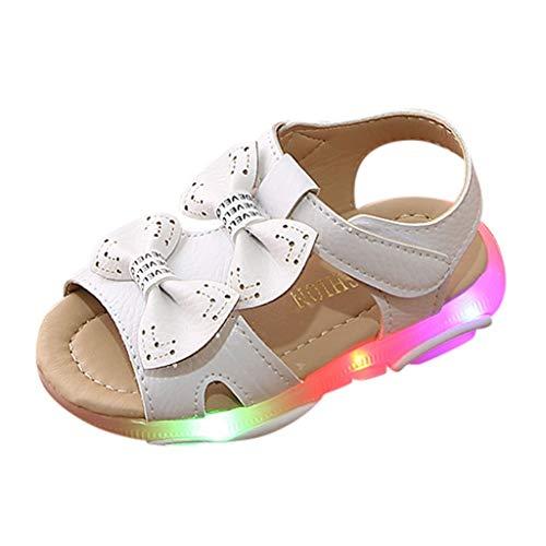 Baby Shoes Abstand Kinder LED Sandalen Mode Blinkschuhe OSYARD Weiche Sohle Lauflernschuhe Hallenschuhe für Mädchen Größe 21-30 -