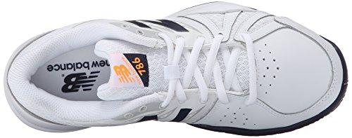 New Balance Women's 786v2 Tennis Shoe, White/Blue, 10 D US White/Blue