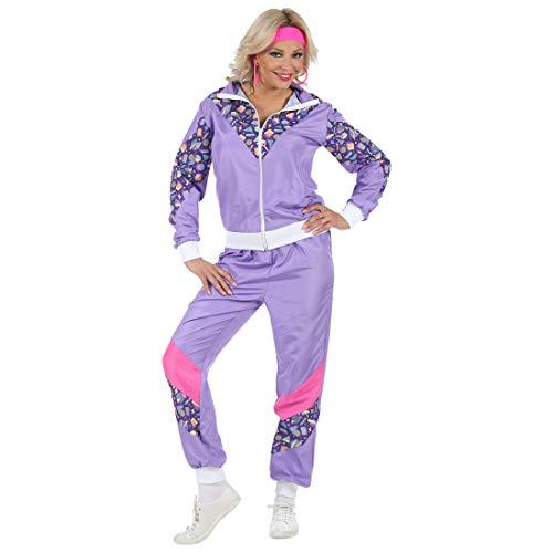 NET TOYS Auffälliger Jogging-Anzug Tussi | Violett in Größe M (38/40) | Schrilles Damen-Kostüm 80er Jahre Trainingsanzug Ghetto Queen | Wie geschaffen für Mottoparty & Bad Taste Party (Bad Taste Party Kostüm)