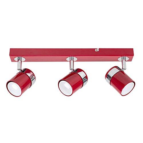 MiniSun - Moderno foco de techo con tres luces en cromo color...