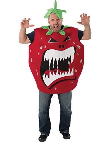 Erwachsener Mens Ladies Killer Tomate Obst Film Scary Halloween Kostüm