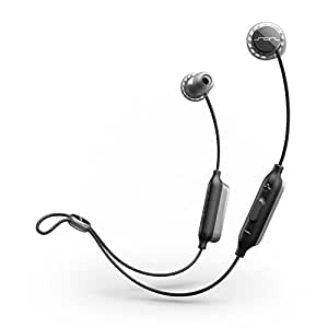 SOL Republic Relays Sport Wireless - In-Ear Headphones, Noise Isolating, Lightweight Earphones w/ Mic + 1 Button Control, High Quality Sound, Sweat, Rain Resistant Perfect Gym Earbuds – Grey