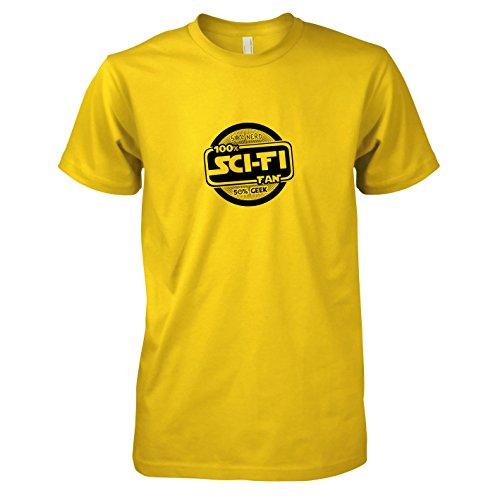 TEXLAB - 100 % Sci-Fi Fan - Herren T-Shirt, Größe XXL, gelb
