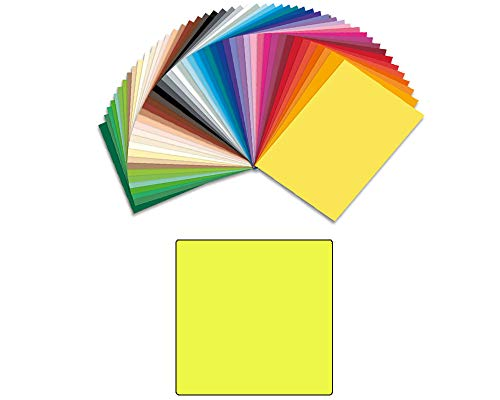 CREATIV DISCOUNT® Bastelkarton 220g/m², A4, zitronengelb,100 Blatt
