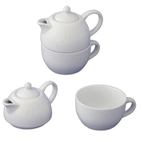 175ml Porzellan Tea for One Kaffeekanne Teekanne Teeservice Kaffeeservice Kanne mit Deckel Set