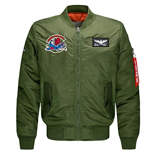 CICIYONER Baumwolle Militär Jacke Herren Fruhling Herbst Übergangsjacke Parka Pilotenjacke Männer Feldjacke mit Reißverschluss M-6XL