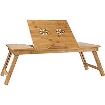 Miadomodo tavolino da letto grande in bamb per portatile casa e cucina - Tavolino per pc portatile da letto ...