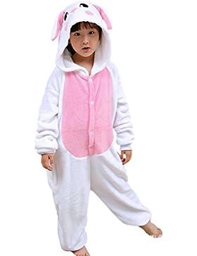 ECHERY Unisex Niños Mono Pijama de dibujos animados ropa de dormir de Animales Cosplay Disfraz de Conejo