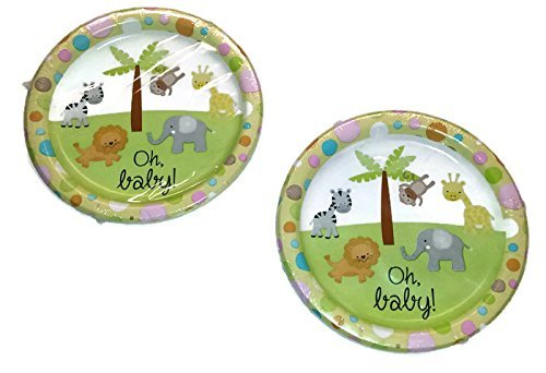 tierischen Thema Design Papier Party Teller, 8 ¾