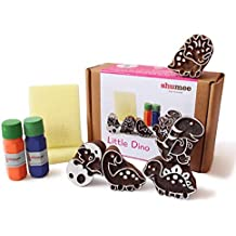 Shumee Wooden Stamps (3 Years+) - Educational Toys (Little Dino Stamps)